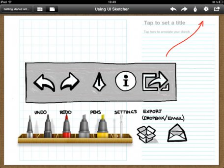 Screenshot of UI Sketcher