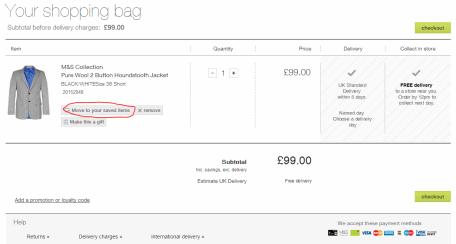 M&S Shopping bag
