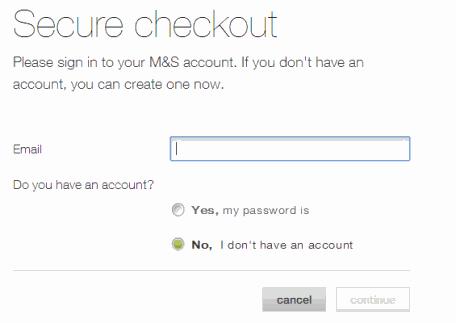 M&S checkout