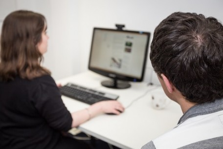 Usability testing on computer
