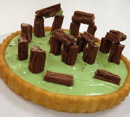 Green Flake cake