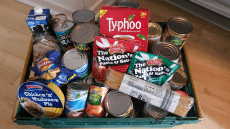 Food bank hamper
