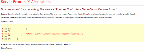Sitecore media error