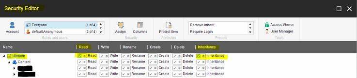 Assigning Permissions screenshot