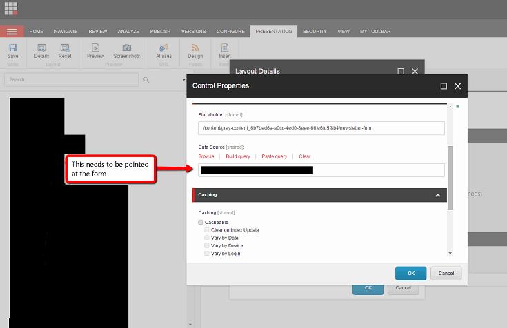 Sitecore web forms control properties