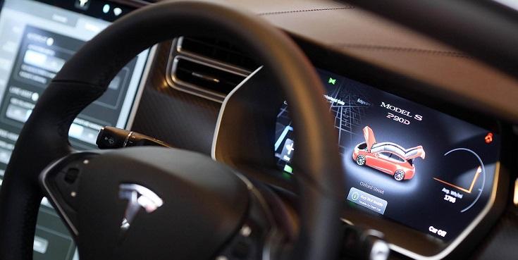 Tesla vehicle dashboard