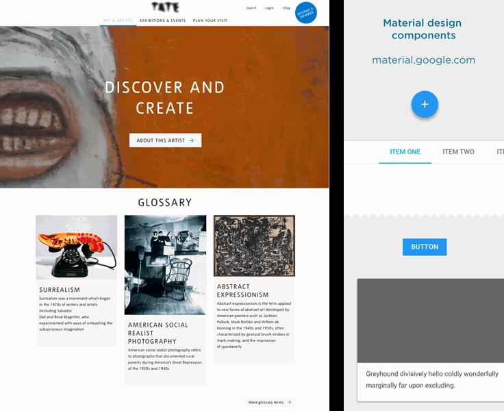 Tate website design