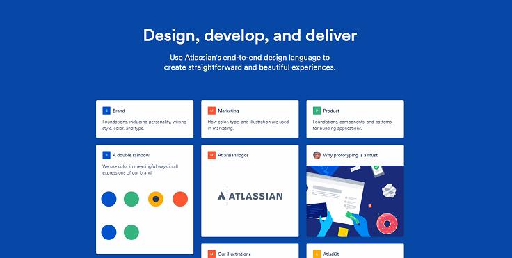 Atlassian design page