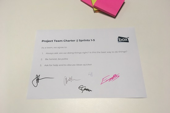 Example team charter
