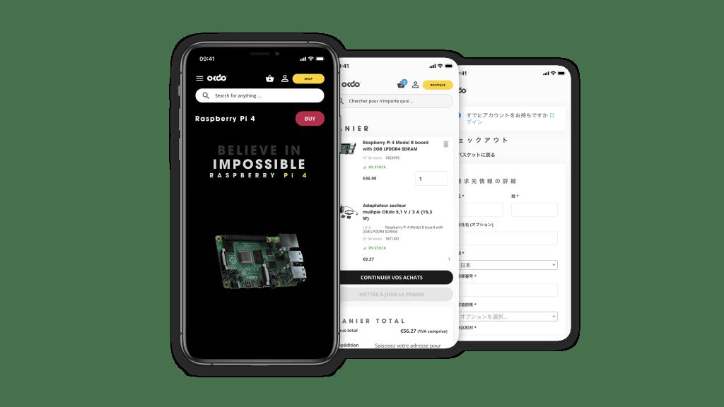 Mobile screenshots of okdo website