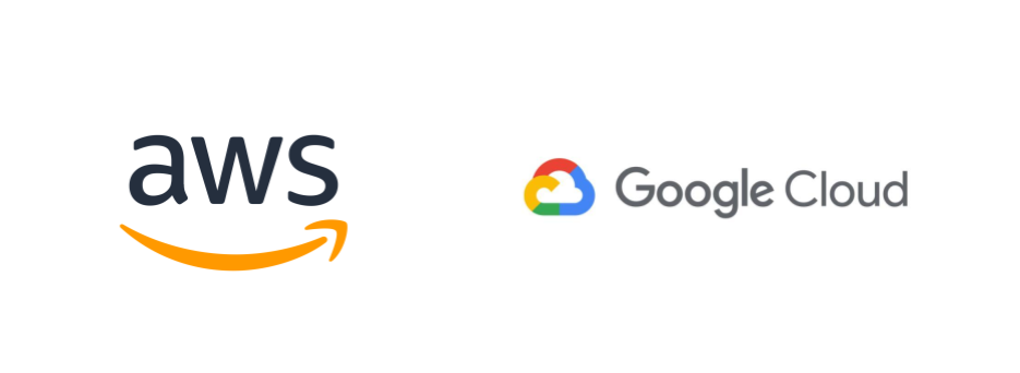 AWS and Google Cloud logos