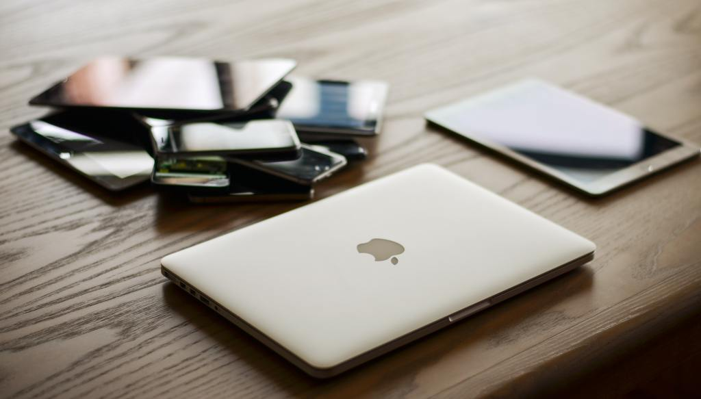 Variety of devices on a table