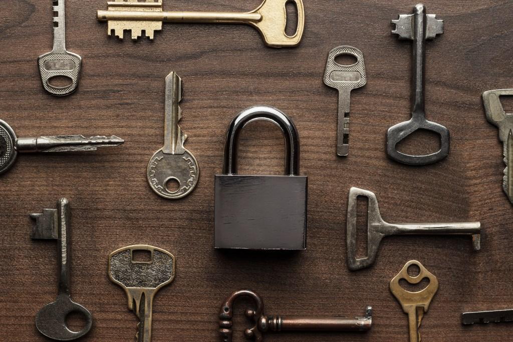 Keys and padlock