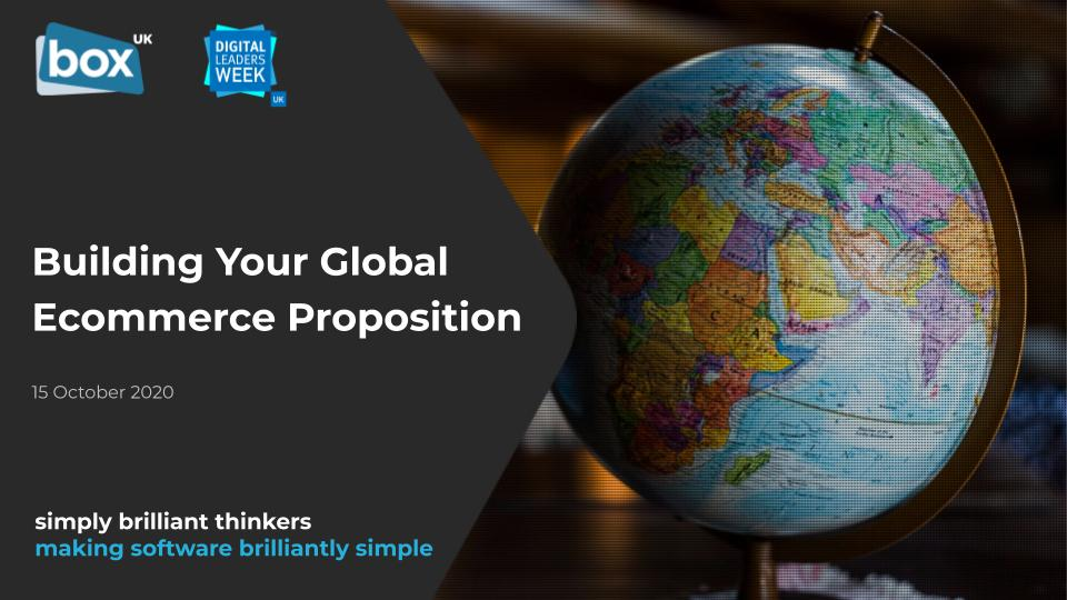 Building Your Global Ecommerce Proposition presentation cover