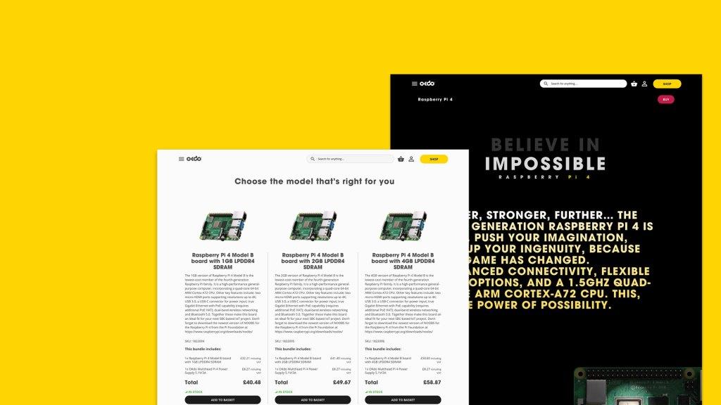 Desktop screenshots of okdo website