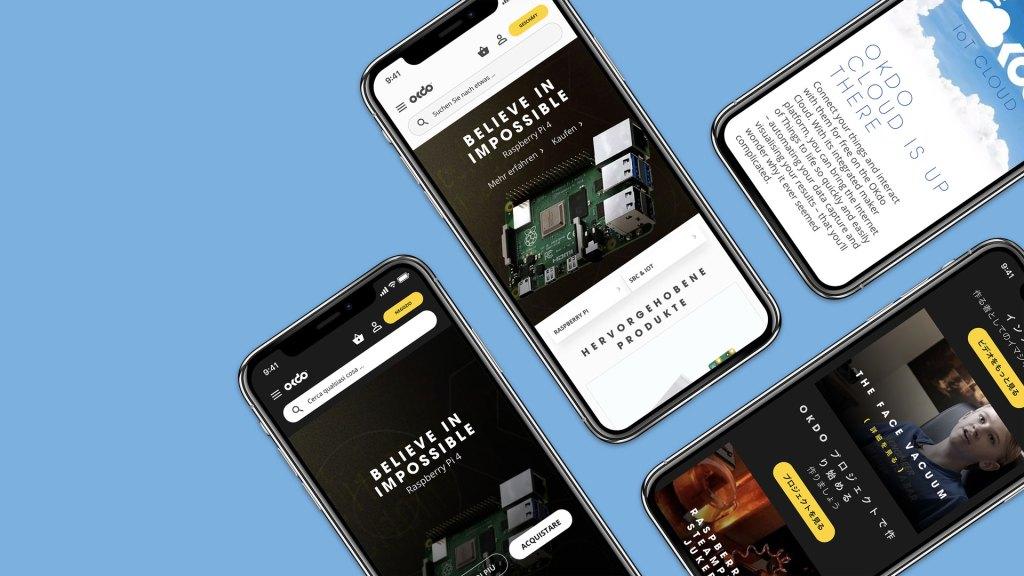 Mobile screenshots of okdo site