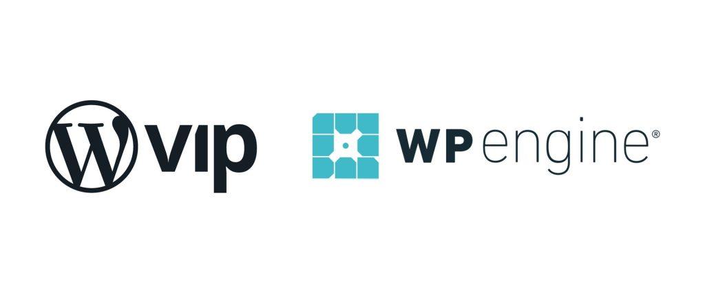 WordPress VIP and WP Engine logos