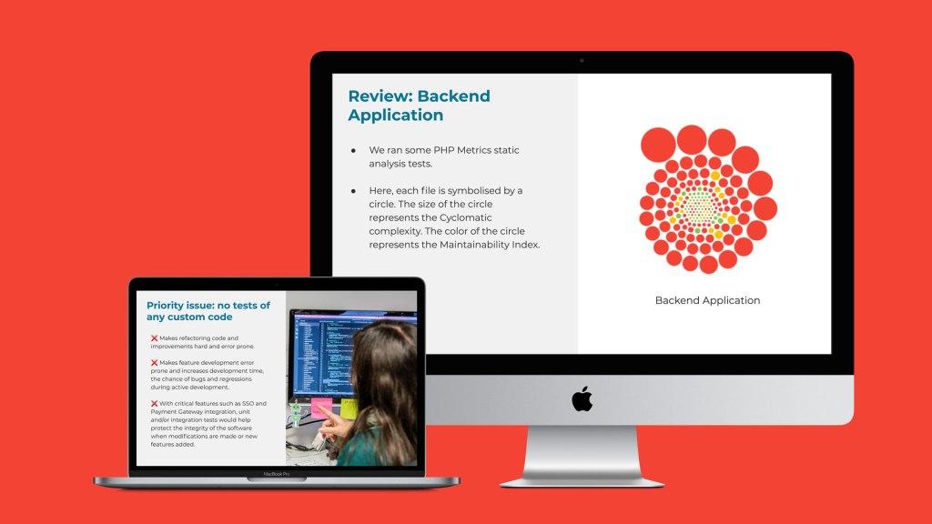 Screenshots of code review report
